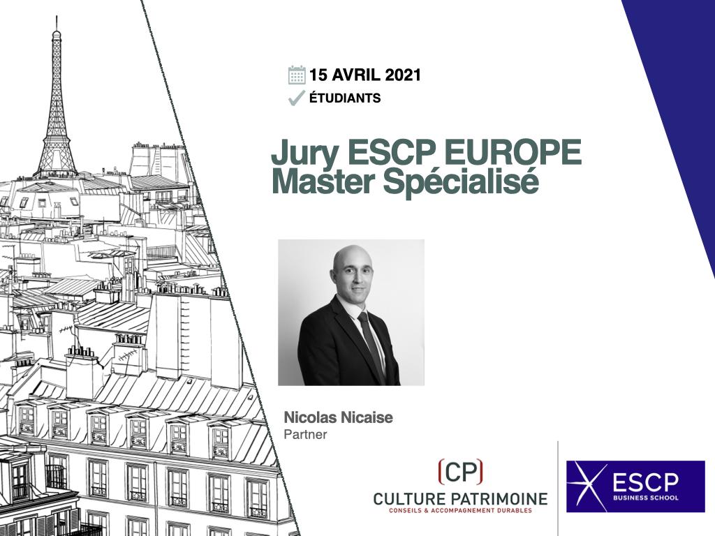 Jury ESCP Europe Nicolas Nicaise